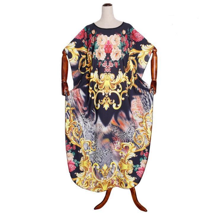 2020 Art und Weise der neuen Ankunfts-Flügel-Hülsen-Partei-Kleid afrikanisch bodenlangen Maxikleid Robe lose beiläufige Kleider Plus Size