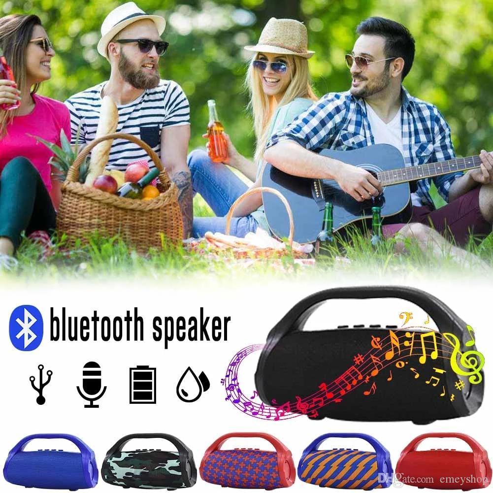TG136 sem fios Bluetooth Altifalante lanterna portátil à prova d'água Coluna Música Outdoor Apoio TF FM MP3 Player Soundbar Baixo
