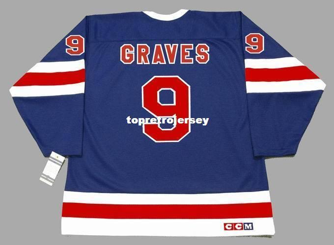 Atacado Homens Adam Graves New York Rangers 1991 CCM baratos Vintage Retro Hockey Jersey