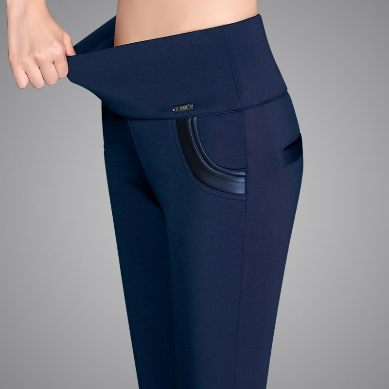 FSDKFAA 2020 alta qualidade Plus Size S-6XL Lady cintura alta Controle Leggings Moda Mulheres Magro esticada Leggings confortáveis