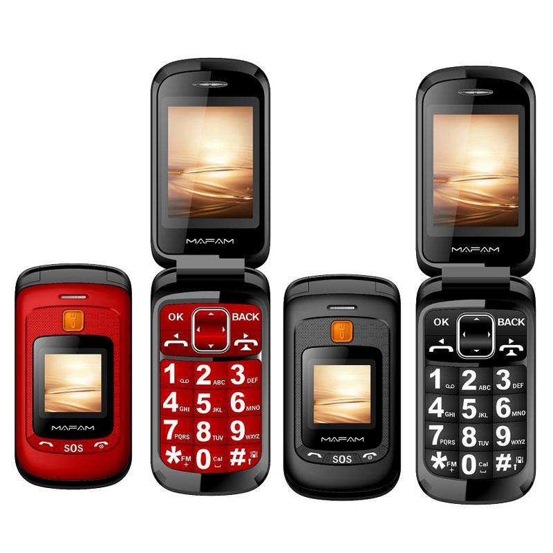 Original Flip Double Dual Screen-Handys 2 SIM-Karte SOS-Schlüsselgeschwindigkeits-Zifferblatt-Berührung Handwriting Große Tastatur FM Senior Mobiltelefon für alte Leute