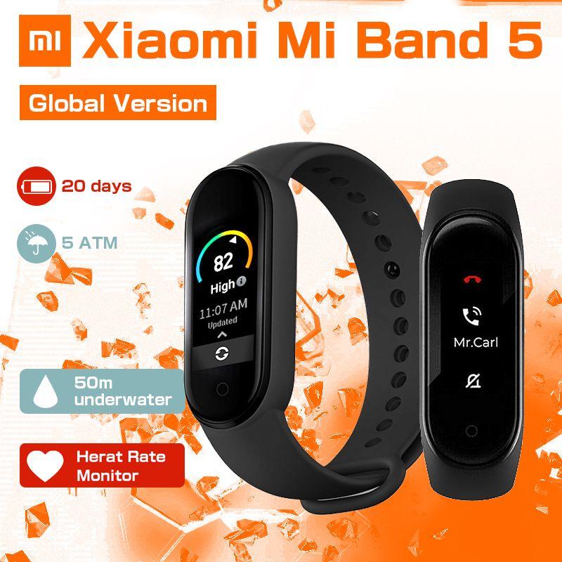 Xiaomi Mi Band 5 Smart Armband Bluetooth 5.0 Sport Waterproof Fitness Tracker Globale Version