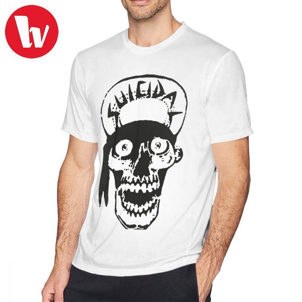 Tendencias suicidas camiseta Tendencias suicidas cráneo dibujo gráfico de la camiseta camiseta de los hombres divertidos de manga corta camiseta Classic