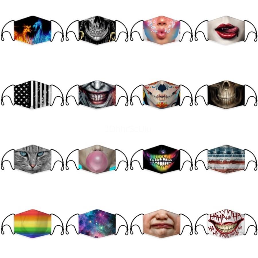 Designer viso maschere di Lusso Maschera Maschera Viso lavabili riutilizzabili Cotone Moda con filtro antipolvere Valve Bocca Facemask trasporto veloce Vw # 869