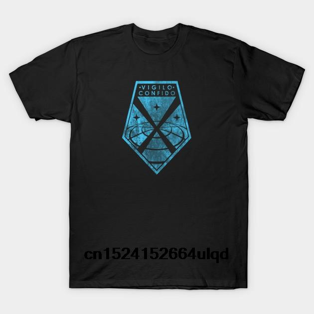 Pamuk O-boyun Baskılı Tişört Erkekler Tişörtlü XCOM Soluk% 100 - Xcom2 Kadınlar Tişört