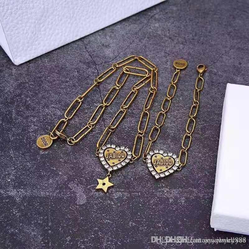 مصمم المجوهرات رسائل حب الماس نجم سلسلة قلادة مصمم مصمم المجوهرات النسائية أساور