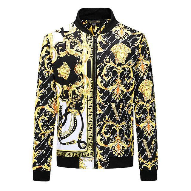 Toptan-Yeni Yüksek Kalite Sonbahar Ve Kış Erkek Palto 3D Erkek Giyim Moda Beyzbol Ceket Palto Ceket Erkek Coat yazdır ~ # T7