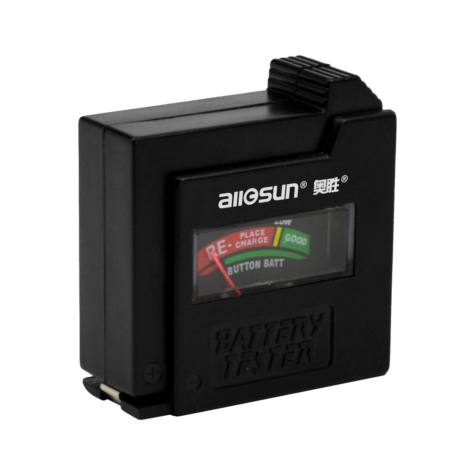 1.5 / 9V-Batterie-Tester AA / AAA / C / D-Knopfzelle Mini Taschenformat Spannungsprüfer Kostenloser Versand All Sun BT1