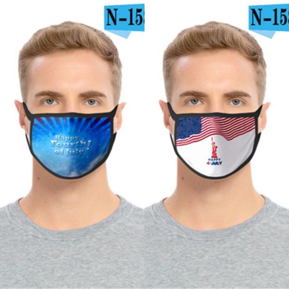 Doble Foral máscara de capa de impresión Cara a prueba de polvo anti-UV Máscaras las mujeres del diseñador de moda de los hombres Mout 7XE3