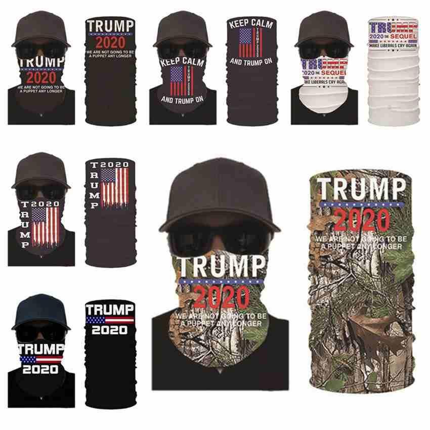2020 Trump Yüz Maske Yıkanabilir Amerikan Seçim Baskı Toz koruyucu Maskeler Açık Bisiklet Sihirli Eşarplar Tasarımcı Parti Maskeler CYZ2579