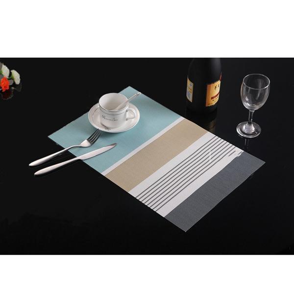 2018 45 * 30cm récent protection de l'environnement des ménages PVC Mat Hôtel de style occidental Bol et saladier Mat Table Mat Isolation thermique Matt DH0076