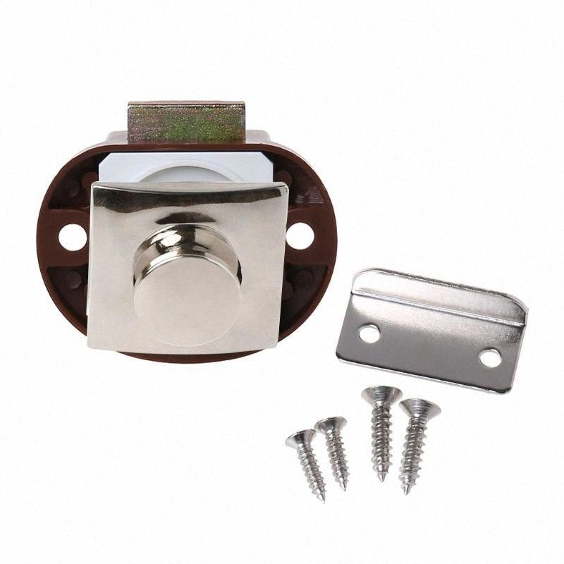 Car Push Lock RV Caravan Boat Motor Home Cabinet Drawer Latch Button Locks UQNw#