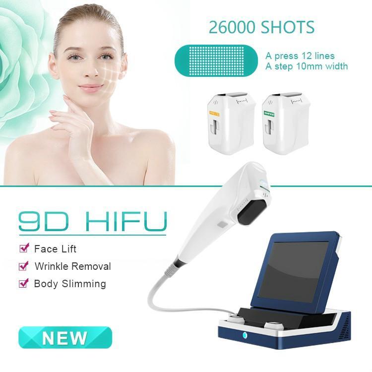 Atacado portátil 3D Rosto HIFU Elevador Máquina de alta Intense Focused Ultrasound Remoção Para rugas e corpo Shaping