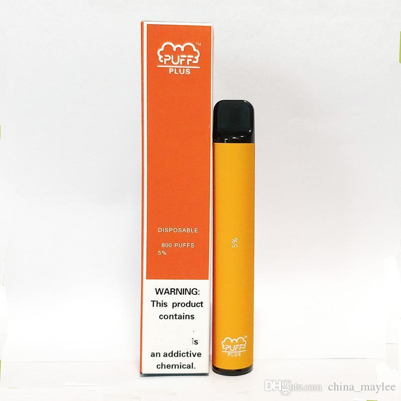Puff mais 800 puffs descartáveis Vape Pré preenchido 3.5ml Puff Bar Plus Eletrônico Cigarro Pods Dispositivo 550mAh Vaporizer Kit