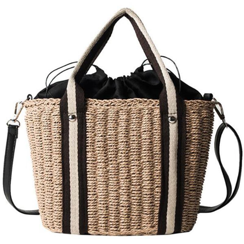 Мессенджер пляж плечо дикая сумка ротанга соломенный мешок повседневный пляж wknkj