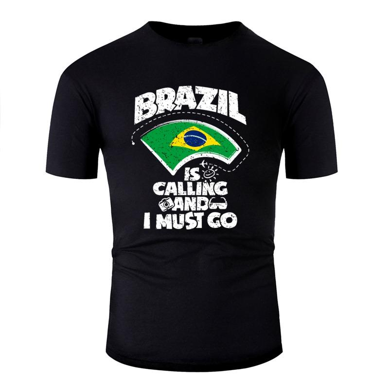 Личность Бразилии Дизайн T-Shirt 100% хлопок Симпатичные Harajuku Мужские футболки Solid Color Camisas рубашка высокого качества