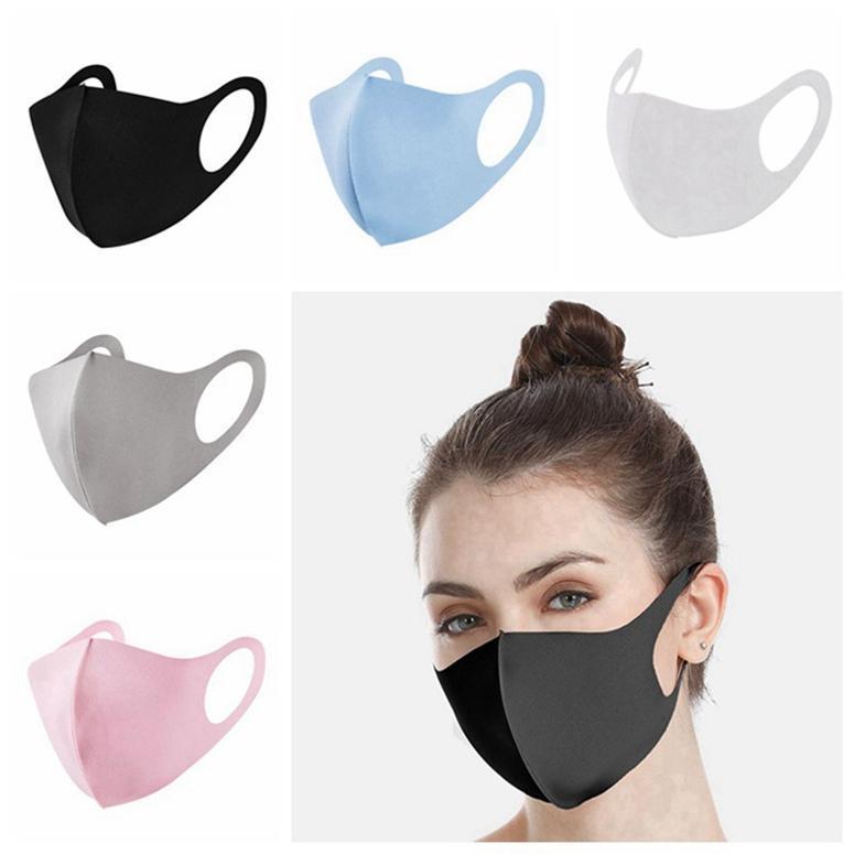 US-Stock-waschbare wiederverwendbare Tuch Gesichtsmaske, einzeln verpackt Mode Mund Gesichtsmaske Anti-Staub DHL Schiff 200PCS