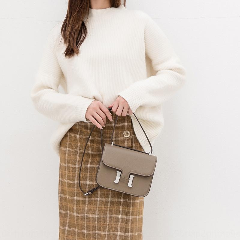 2019 nuove donne di modo H casa Satchel borsa casa fibbia tracolla Messenger ins borsa semplice hostess femminile del sacchetto tofu