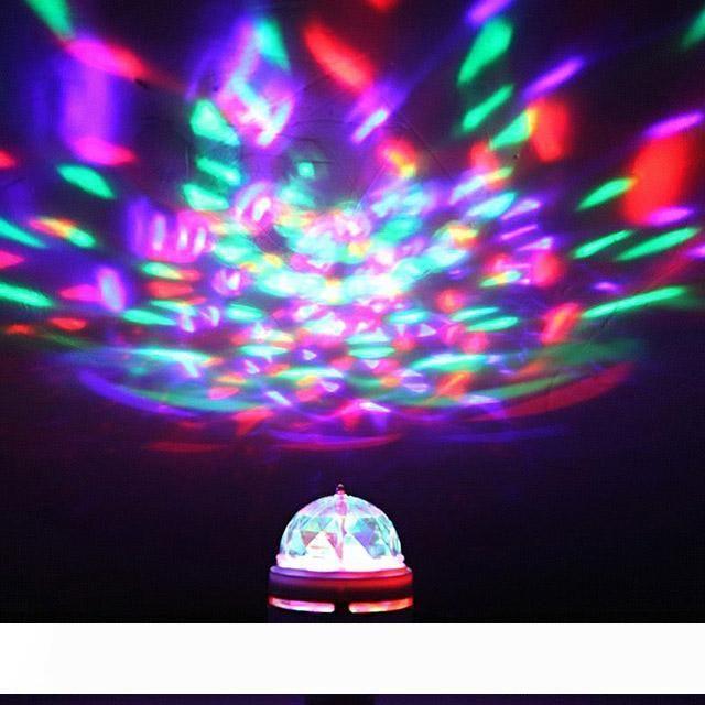 3W E27 RGB Кристалл лампа Авто Вращающегося Stage Effect DJ Лампочка LED Освещение сцены Кристалл Magic Ball для партии Свадьбы