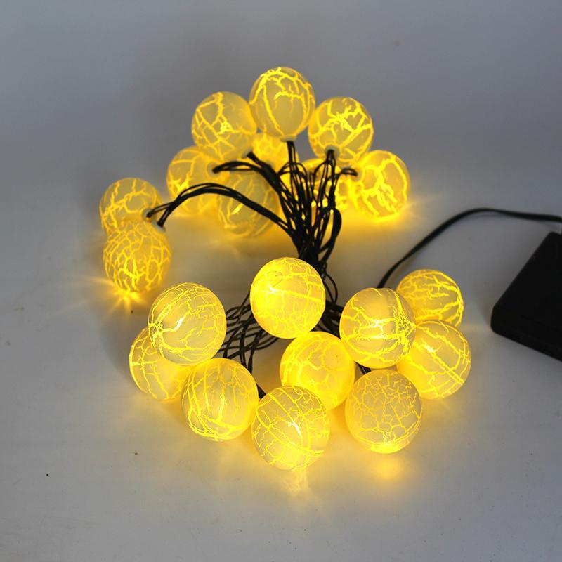 Bolas de Natal 20PCS 4.2m LED BALL Luz Luzes Cordas para o partido do casamento da árvore Decoracion Cordas Lamp bateria Natal Desenvolvido