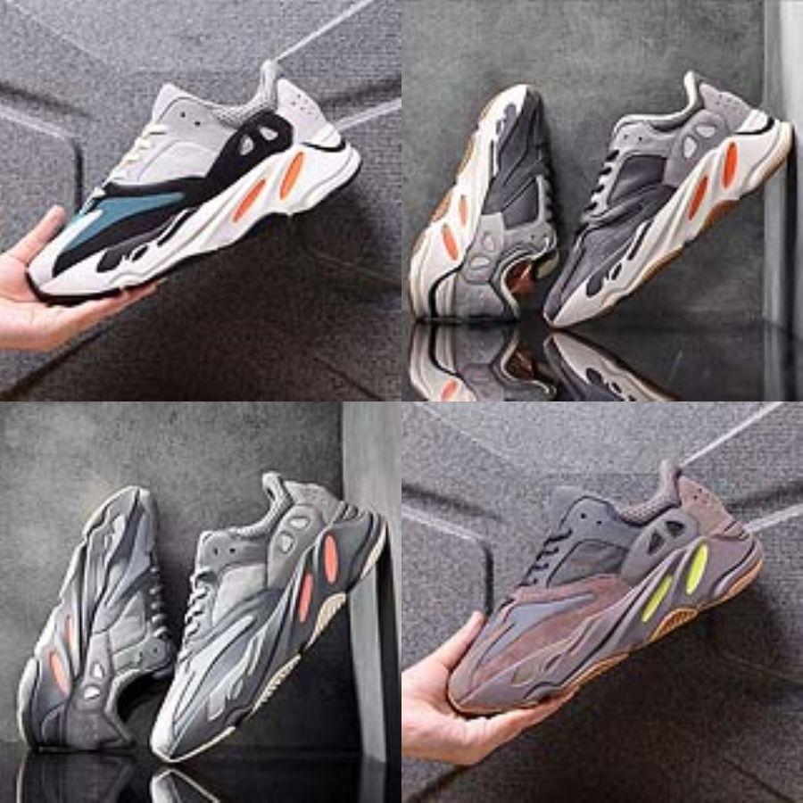 2020 récent 27S coussin d'air en tricot respirant enfants Courir Kanye West 700 Kanye West 700 Chaussures garçon Jeune fille Kid Sport Sneaker Taille 28 # 279
