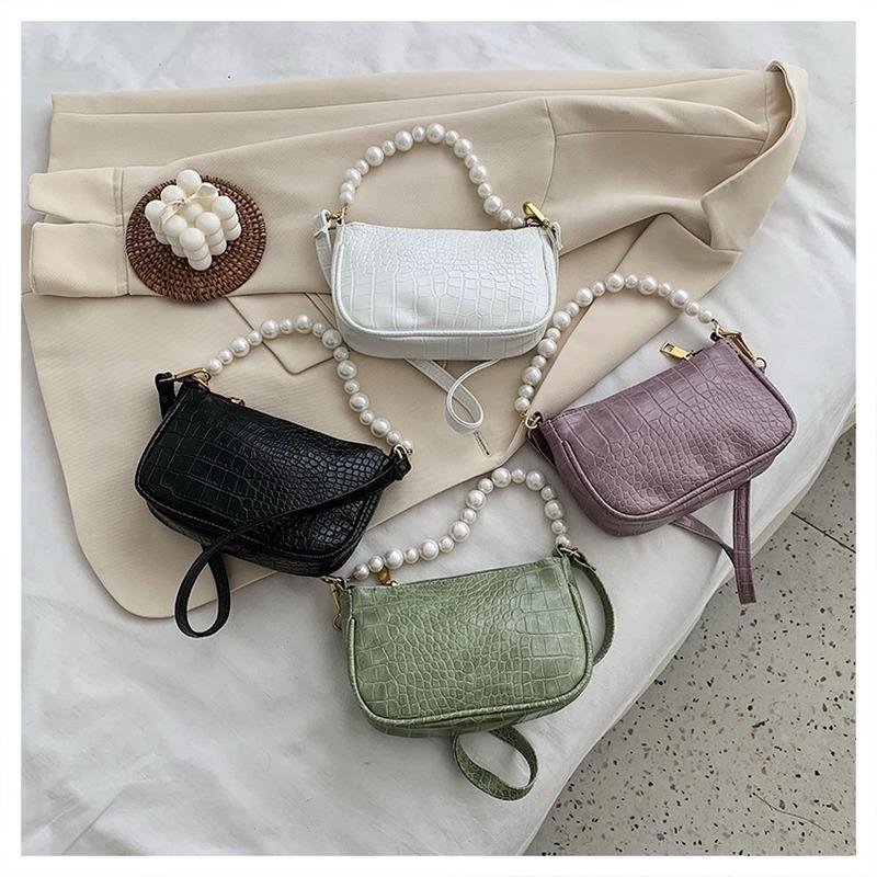 Сумки кожаные старинные жемчужины PU undermare для женских сумки Новый дизайн и багет солидные сумки посылки плечо кошелек 2020 ремешок VSGNP