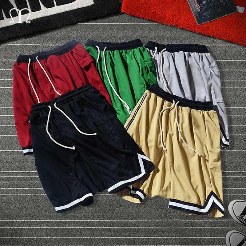 Pantalones cortos para hombres ocasional del verano 2020 suelta pantalones cortos masculino pantalón corto de gran tamaño Pantalones rectos ocasionales de algodón para hombres de Homme