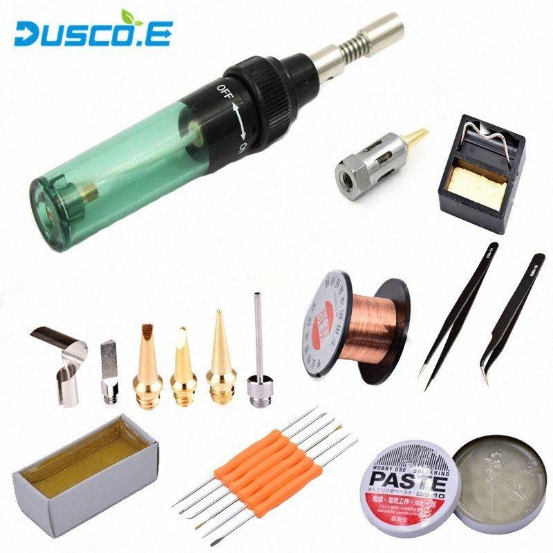 Reparação sopro de alta qualidade Eletrônica DIY MT-100 Gás Tocha Butano Gás Ferro de solda Gun sem fio de solda Ferro de soldadura Tool Set 1GkQ #