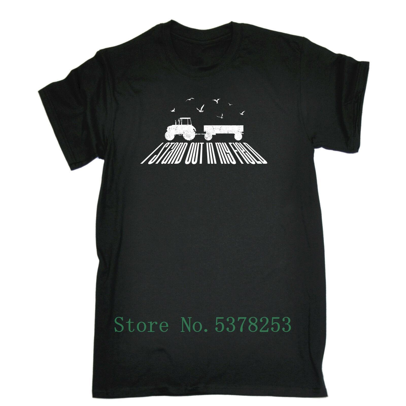 Ben My Saha Tişört Çiftliği Çiftçi Tarım Traktör Doğum Komik Hediye Grafik Tişört Digital olarak% 100 Pamuk Baskı Out Standı