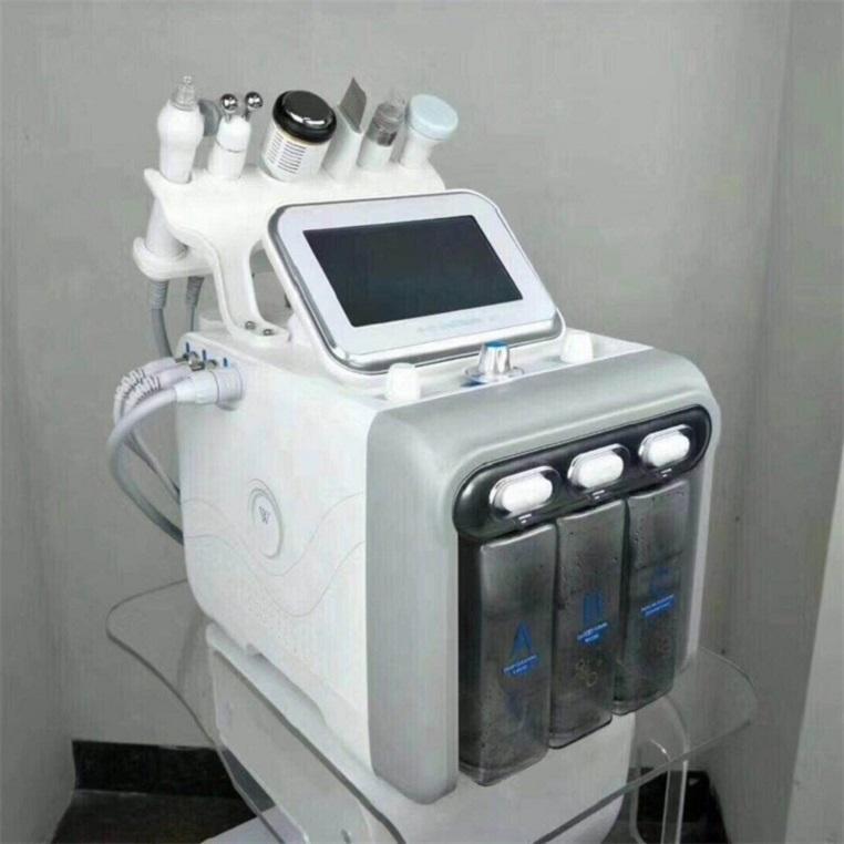 6 في 1 H2 O2 هيدرا جلدي قشر الوجه آلة الوظيفية للسبا