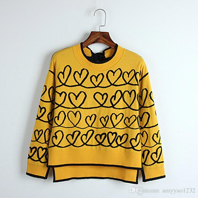99 2018 Autumn Frauen Pullover Regular Long Sleeve Crew Neck Panelled Viskose Mode Frauen Kleidung DL