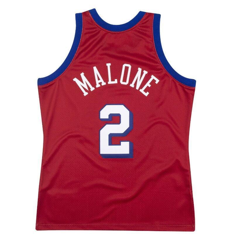 Donna-Uomo della gioventù Moses Malone Mitchell Ness 1993-1994 Jersey di pallacanestro formato S-2XL o personalizzato qualsiasi nome o numero di maglia