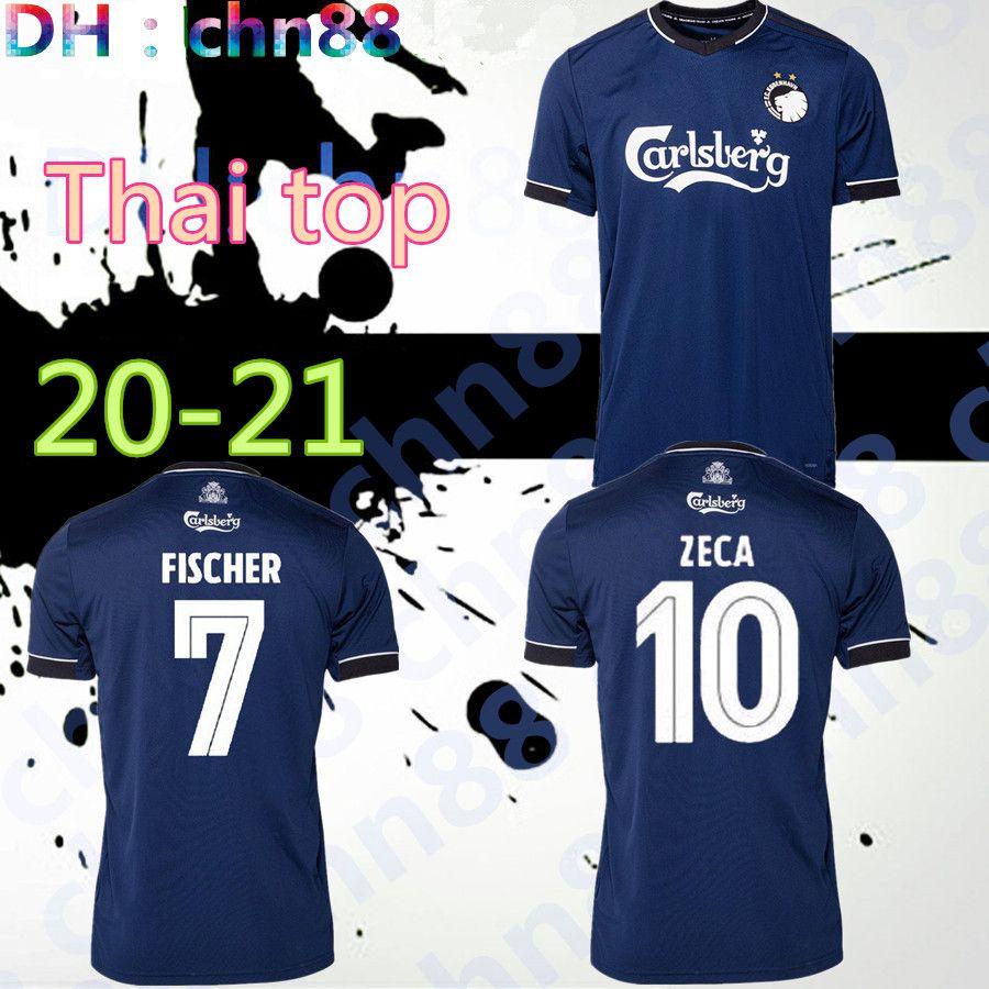 2020 2021 ZECA DARAMY Kopenhagen entfernt FISCHER Trikots blau Fußball SIGURDSSON Fußballhemden Fußballjersey SKOV Kits Uniformen