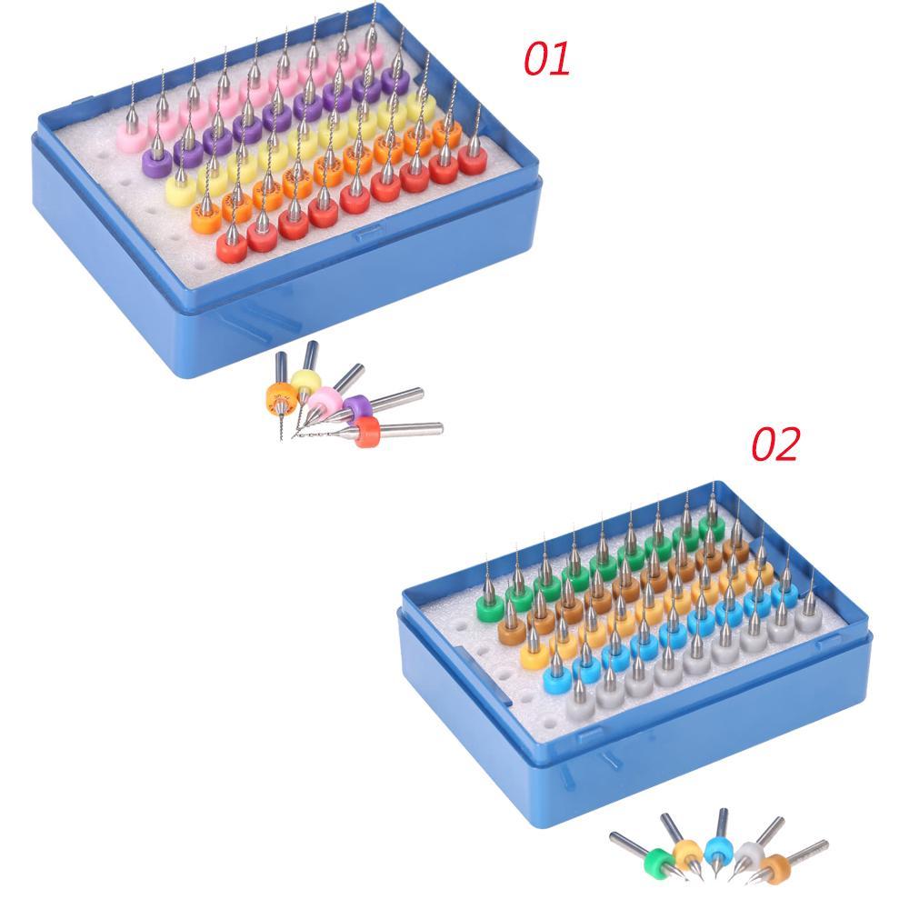 50pcs Мини Twist микро дрель Биты Набор из карбида вольфрама Гравировка Инструменты для монтажной плате PCB 0,5 + 0,6 + 0,7 + 0,8 + 0,9 мм для SMT Mold Hardware