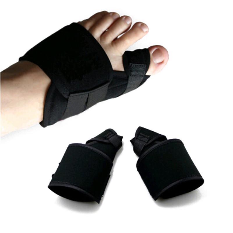 2PCS / Çifti Ayak Bakım Görevlisi Kayışı Ayak Şişi Atel Düzeltme Ayarlanabilir Ortopedik Ayak Şişi Düzeltici Ürünler Big Toe Ayırıcı