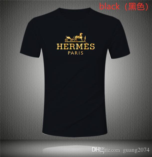 Camiseta Hermès ocio del verano de los hombres, O-cuello de la camiseta, algodón transpirable de la Mujer de manga corta para hombre del diseñador de camisetas