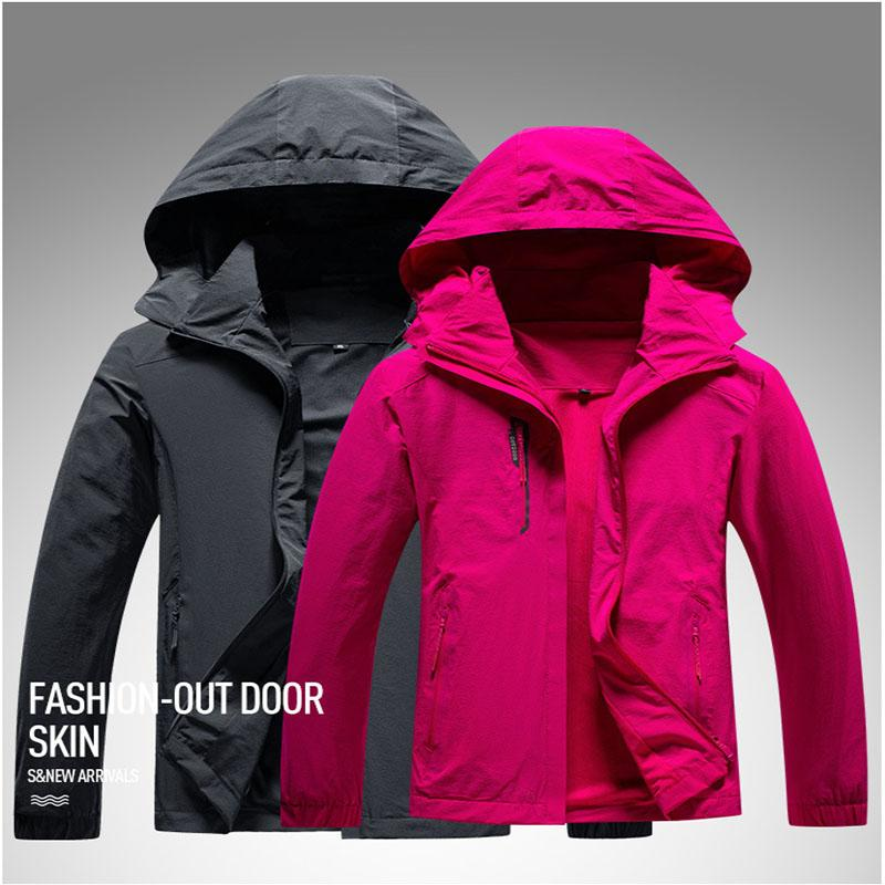 Открытый куртки, походы куртки женщины мужчины весенние осень растягивающие ткани тонкое пальто водонепроницаемый быстрый рыболовный альпинизм
