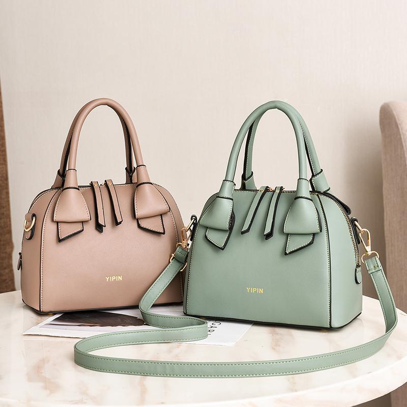 Vento Marea Designer verde Tote Bags per le donne 2020 Female Top-Handle Bag ragazze borse a spalla semplici Lady Fashion Shell Handbag
