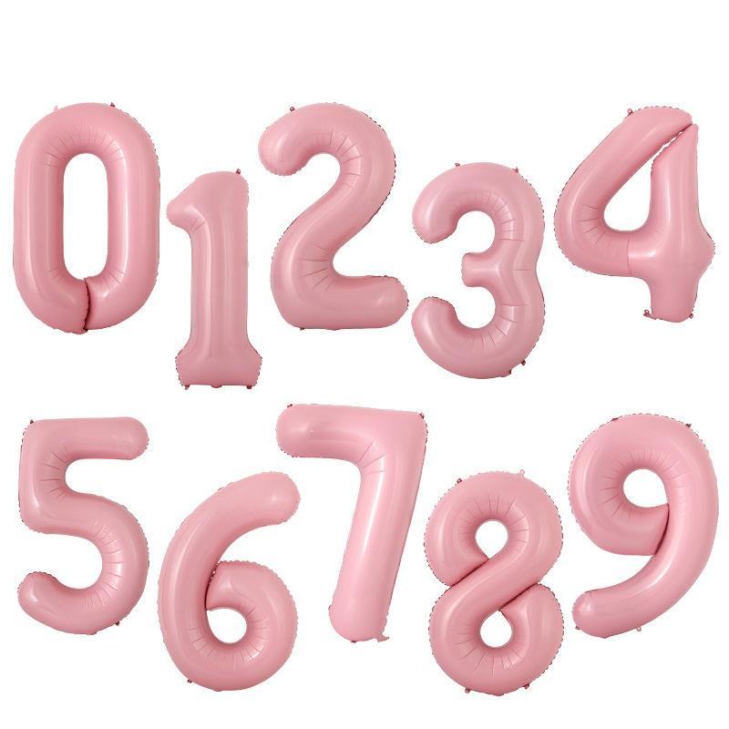 40 inç macaron pembe folyo numarası balonlar doğum günü partisi bebek duş düğün dekor festivali balon parti malzemeleri