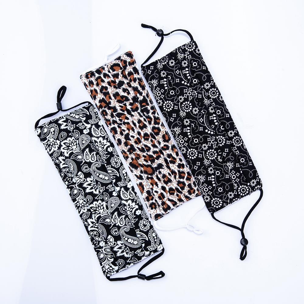 ACCIÓN US! Cara del leopardo de impresión del patrón diseñador de la máscara 5 capa de filtro lavable de algodón de protección de la mascarilla de tela Moda Boca fy0038 Máscara