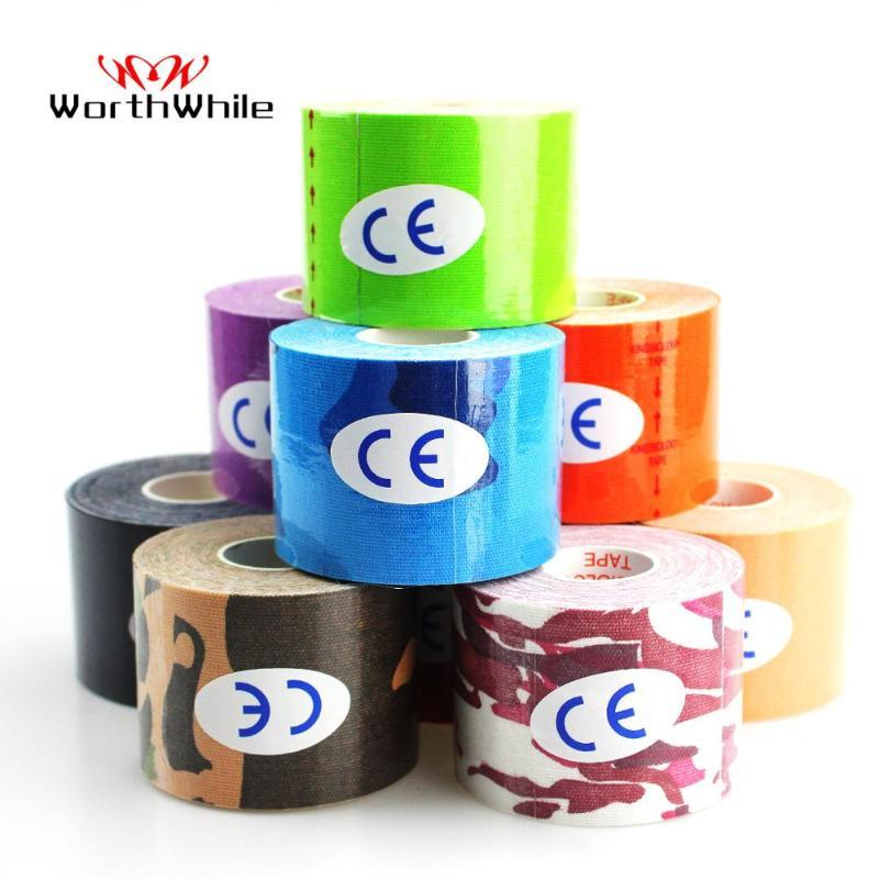 WorthWhile 6 Pcs Kinesiology Tape Athletic Recovery Elastic Tape Kneepad Relief Knee Pads for Gym Fitness Bandage