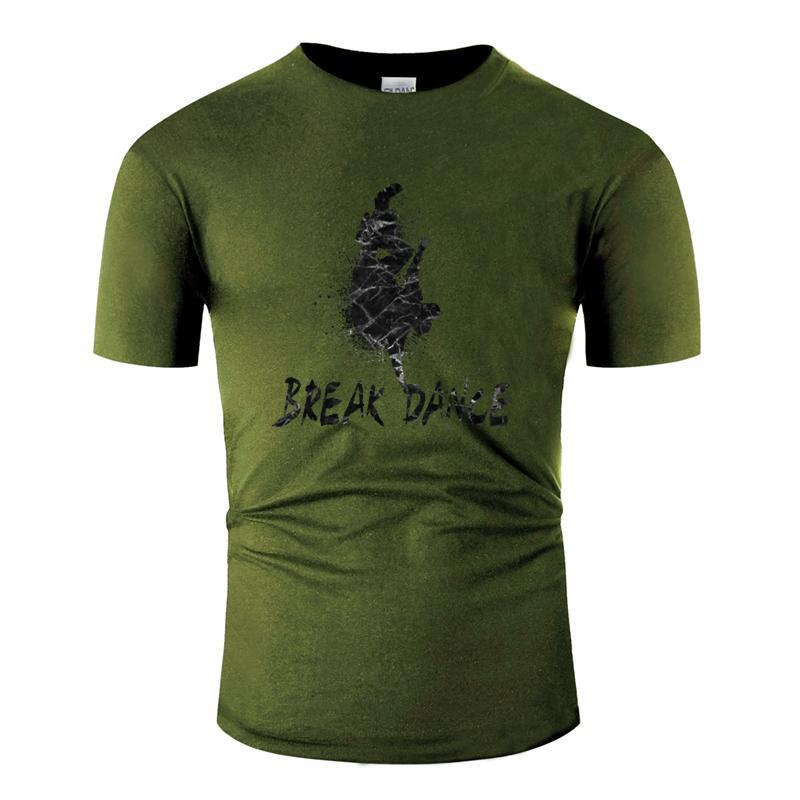Divertido Casual populares break dance regalo de la danza hip hop breakdance camiseta Carta hombres camiseta de cuello redondo manga corta