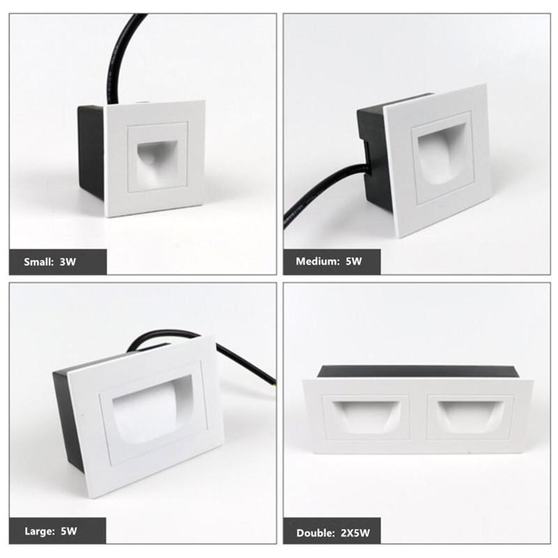 10W pared de luz LED Footlights IP67 a prueba de agua al aire libre de aluminio de la lámpara de pared Para Square Hotel Escaleras Paso Foyer pared de la esquina de las luces