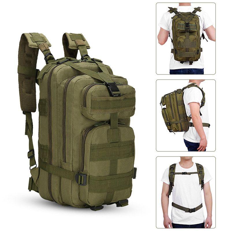 3P tático assalto Pacote Mochila Exército Molle Waterproof Bug Out Bag Pequeno Para Outdoor Caminhadas Camping Caça Mochila