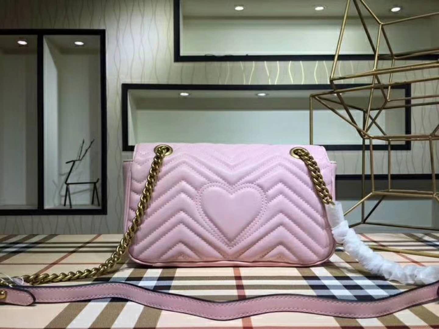 Versand Marmont Tasche Luxus-Handtaschen hohe Qualität berühmte Marken Designer-Handtaschen Frauen fallen echten Leder-Schulter-Beutel Größe drei