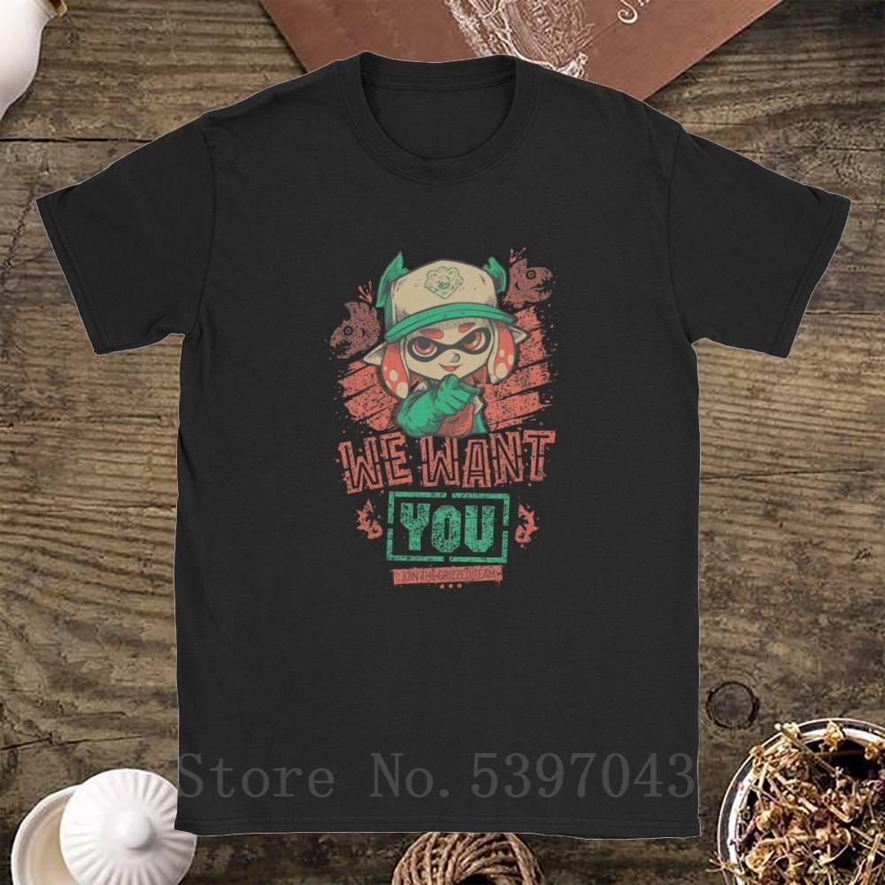 Queremos que Hielo y Fuego camiseta de los hombres de tinta de calamar juego de niños ropa casual Camiseta 100% algodón camiseta de manga corta original