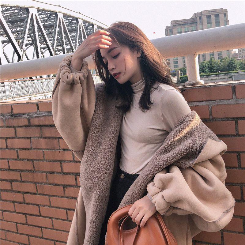 2020 Nuovo Inverno Donna Agnello Swool Giacca Artiglio Female Button cappotto Lady Tutto-fiammifero cappotto incappucciato ragazza di alta qualità Outerwear