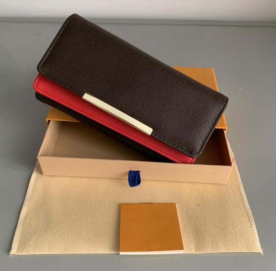 فاخر مصمم حقائب اليد المحفظة زيبر حقيبة أنثى مصمم محفظة محفظة إمرأة محفظة بطاقة حامل الأزياء جيب حقيبة المرأة الطويلة مع مربع