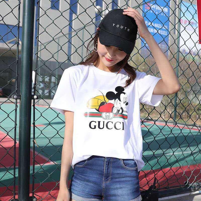 Hip-hop, Kız Gang Tişörtü 2018 Beyaz Harajuku Kadınlar Tişört Kadın tişört Yaz Yazdır Kısa Kollu O yaka t Gömlek Punk Rock Tees Tops
