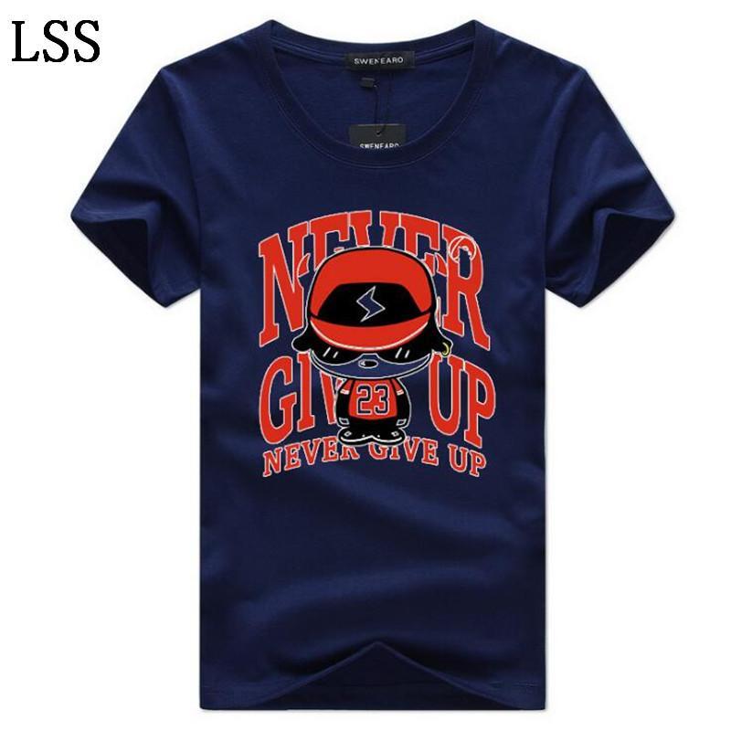 Free Shipping New Fashion Printing Tear T-Shirt Men Cotton Short Sleeves Casual Tshirt O-Neck T shirts Men Tops Tees S-5XL C-6